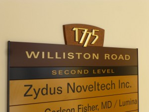 Business Directory Sign Creation, South Burlington for 1775 Williston Rd