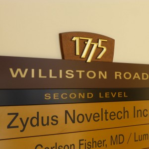 1775 Williston Rd. directory sign