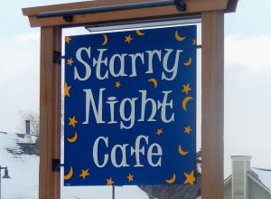Starry Night Cafe Sign by Design Signs Vermont