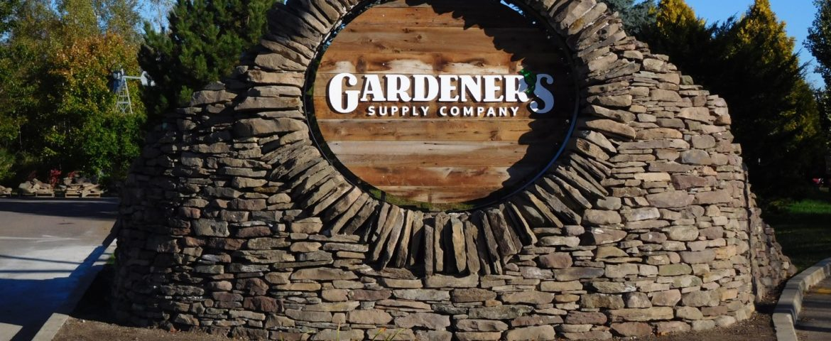 Gardeners Supply Company Monument Sign